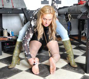 Boot fetish slave
