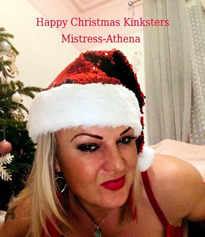 Dominatrix Athena wishing you a happy Christmas